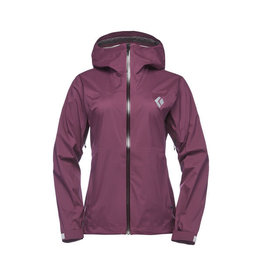 Black Diamond Womens Stormline Stretch Rain Shell Plum