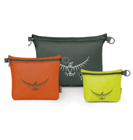 Osprey UL Zipper Sack Set Lime/Orange/Grey S/M/L