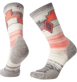 Smartwool Womens PhD Outdoor Light Pattern Crew Medium Gray