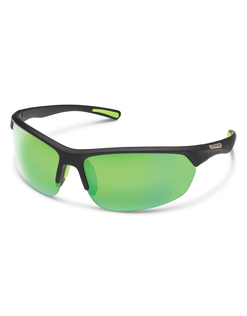 SLICE MATTE BLACK FRAME - POLARIZED GREEN MIRROR