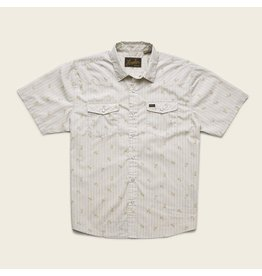 H Bar B Snapshirt Vintage Grid Floral: Medium White