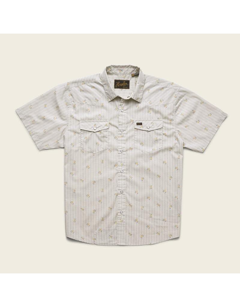 H Bar B Snapshirt Vintage Grid Floral: Medium White