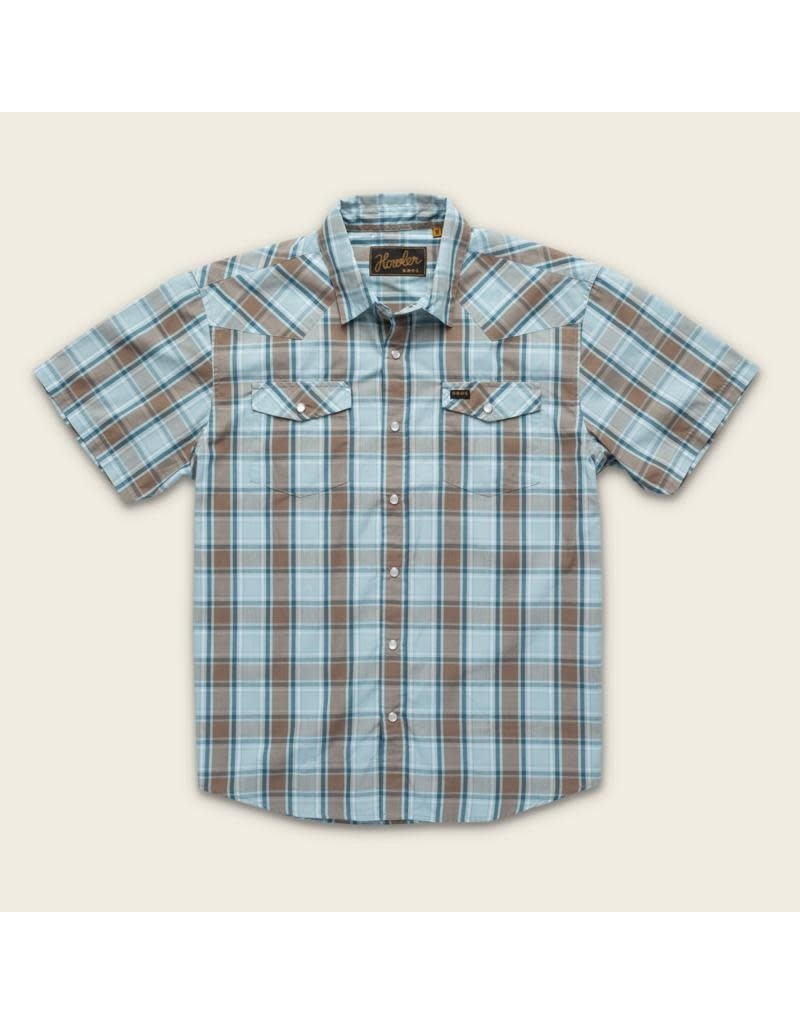 H Bar B Snapshirt  Chapman Plaid  Sterling Blue