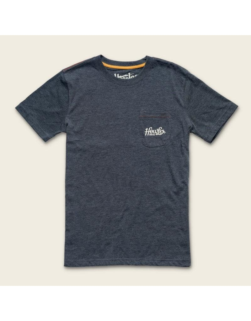 Classic Shapes Pocket T - Charcoal