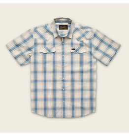 H Bar B Snapshirt  Chapman Plaid Vintage White & Blue