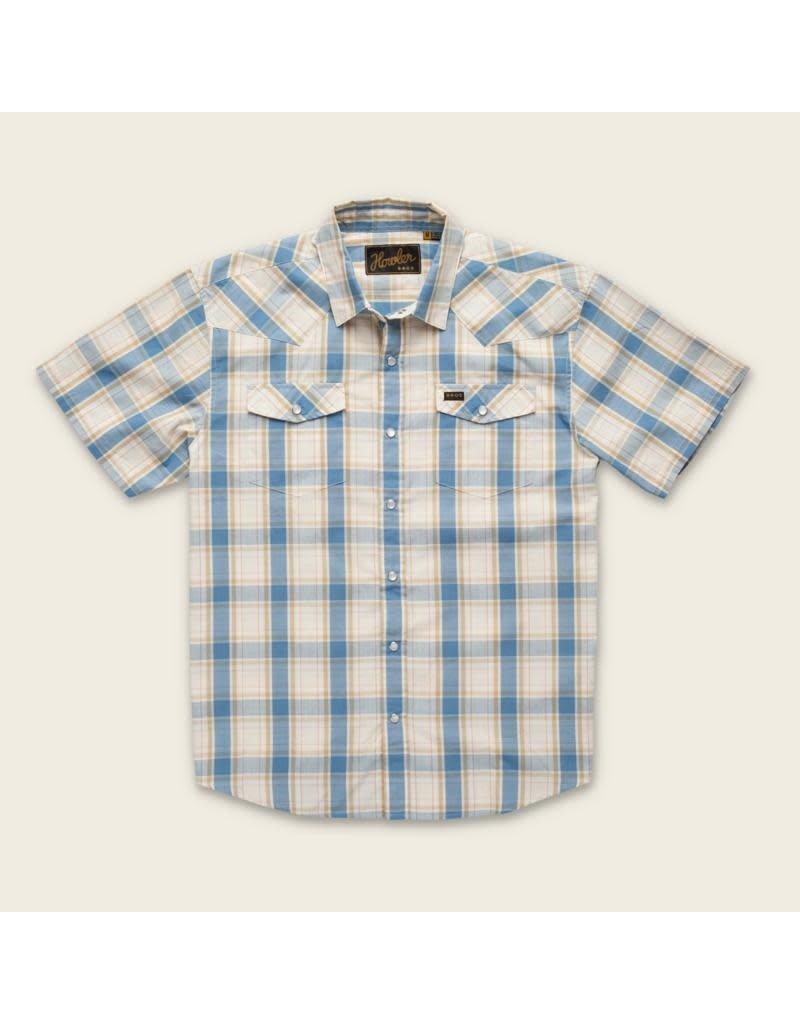 H Bar B Snapshirt  Chapman Plaid Vintage White & Blue