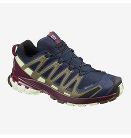 Salomon Womens XA PRO 3D v8 GTX Navy Blaze/Wine/PG
