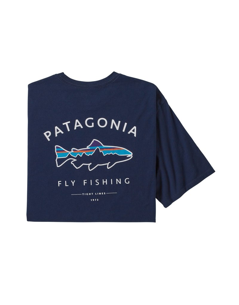 Patagonia Mens Framed Fitz Roy Trout Organic T-Shirt