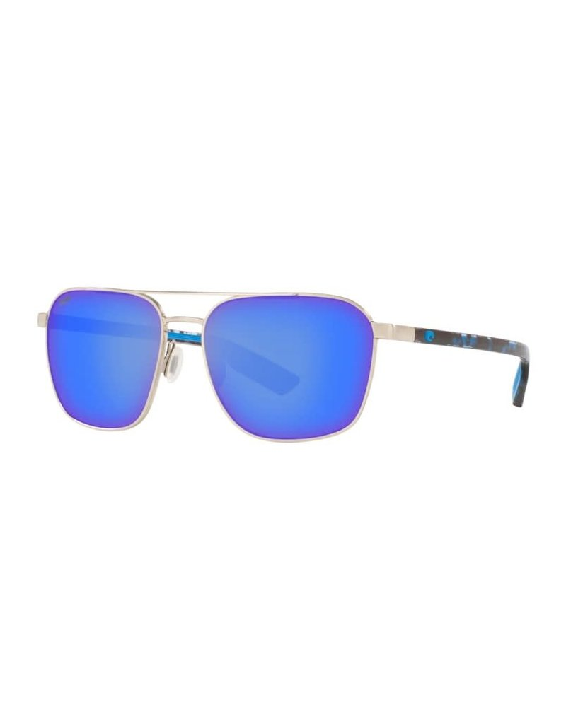 Costa Del Mar Wader Brushed Silver W/ Blue Mirror 580P