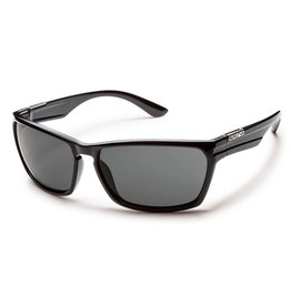 Suncloud Cutout Black Polarized Gray Lens