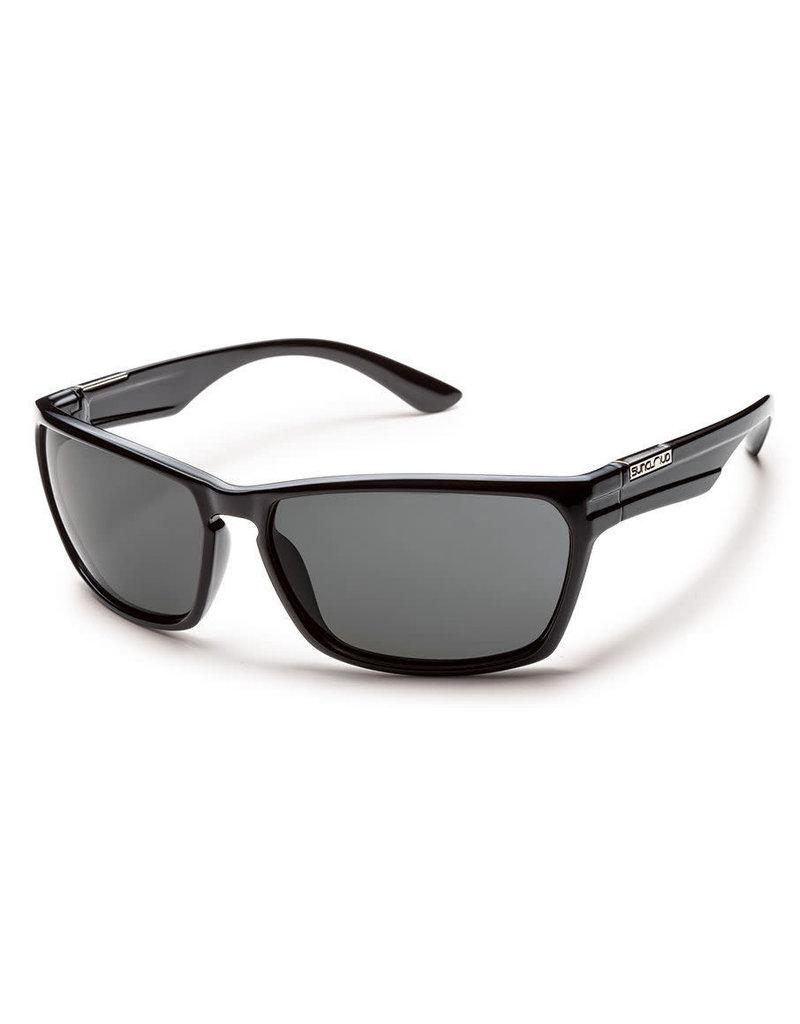 Suncloud Cutout Black Polarized Gray Lens
