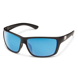 Suncloud Councilman Matte Black Polarized Blue Mirror
