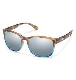 Suncloud Loveseat Matte Tortoise Blue Fade Polarized Silver Mirror