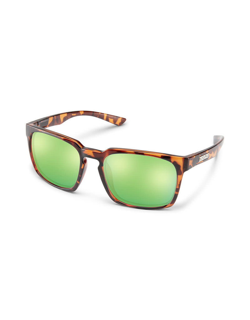 Suncloud Hundo Tortoise Polarized Green Mirror
