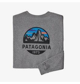 Patagonia Mens L/S Fitz Roy Scope Responsibili-Tee