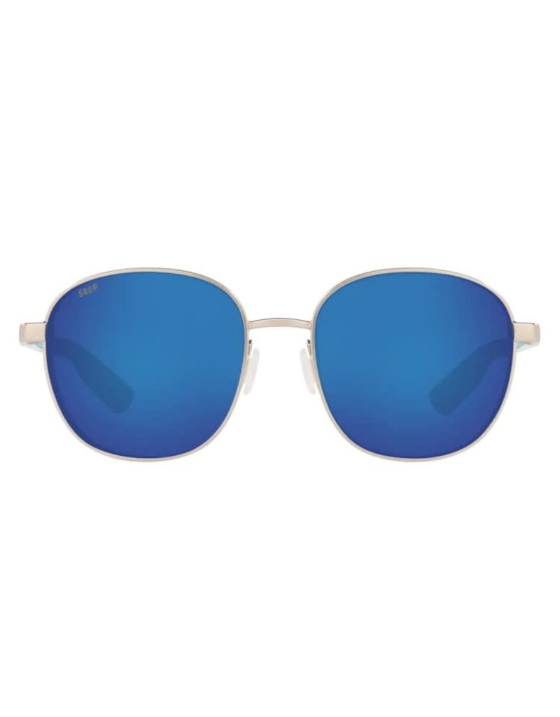 Costa Del Mar Egret Brushed Silver Blue Mirror 580P