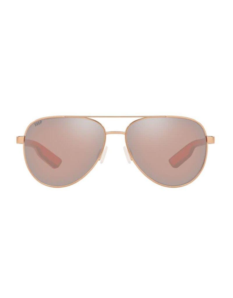 Costa Del Mar Peli Shiny Rose Gold Copper Silver Mirror 580P