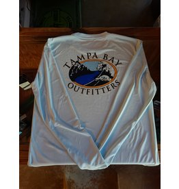 Tampa Bay Outfitters Long Sleeve Tech Crew  Ice Blue