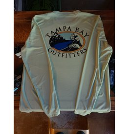 Tampa Bay Outfitters Long Sleeve Tech Crew  Green Tea