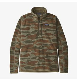 Patagonia Mens Better Sweater 1/4 Zip Bear Witness Camo: Sage Khaki