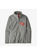 Patagonia Womens Re-Tool Snap-T P/O Tailored Grey - Nickel X-Dye w/ Aurea Pink