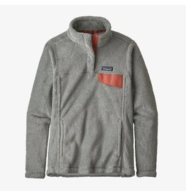 Patagonia Womens Re-Tool Snap-T P/O Tailored Grey - Nickel X-Dye w/ Aurea Pink