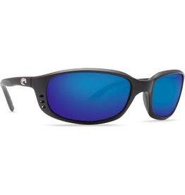 Costa Del Mar Brine Matte Black  Blue Mirror 580P