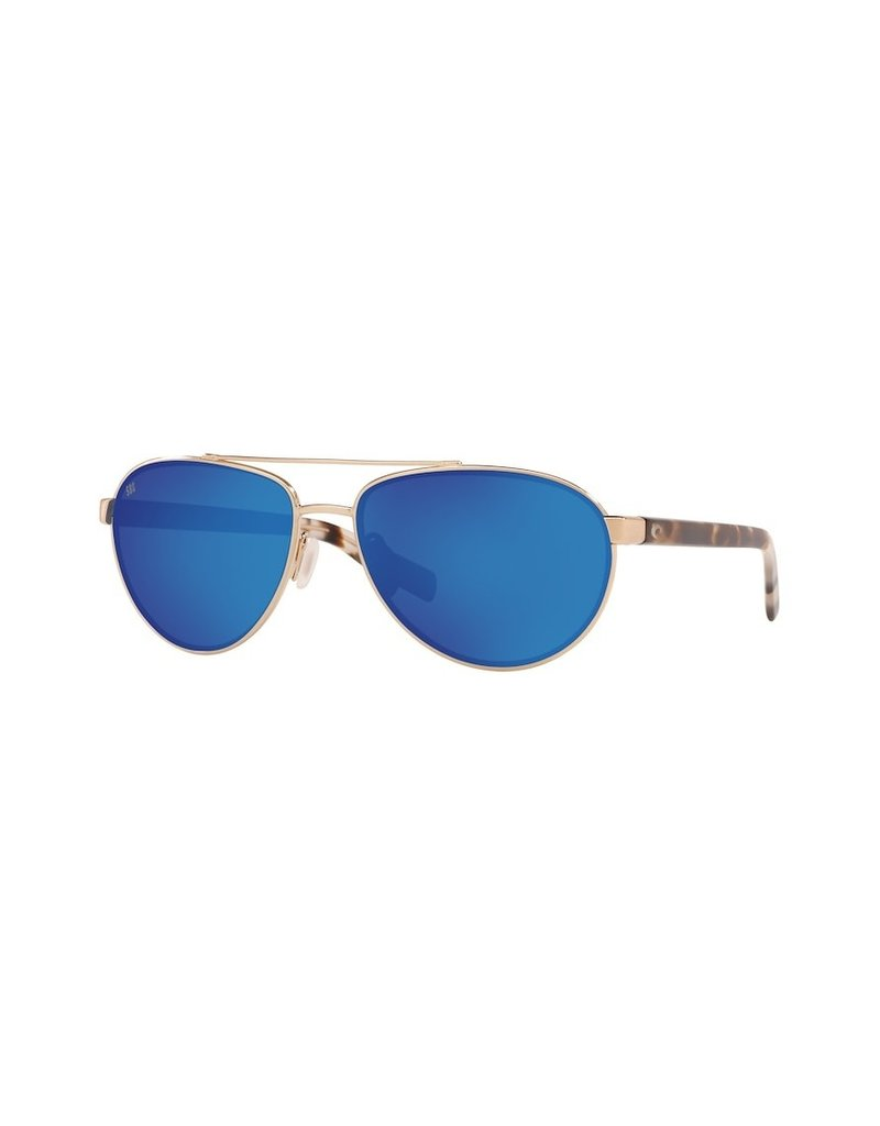 Costa Del Mar Fernandina Brushed Gold  Blue Mirror 580G