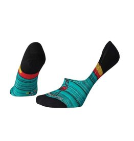 Smartwool Womens Curated Surfing Flamingo No Show Multi Color M