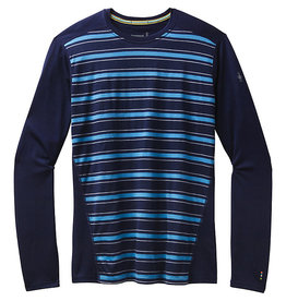 Smartwool Mens Merino 150 Baselayer Long Sleeve DEEP NAVY STRIPE