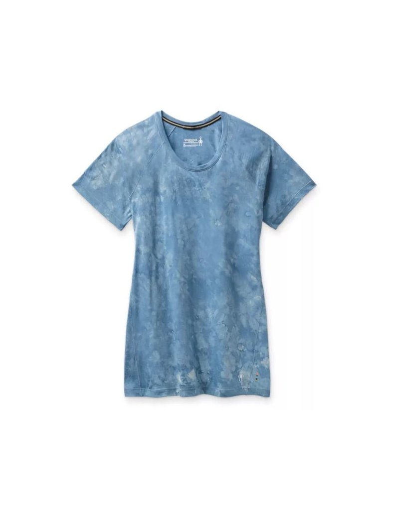 Smartwool Womens Merino 150 Baselayer Short Sleeve CLOUDY BLUE MARBLE WASH