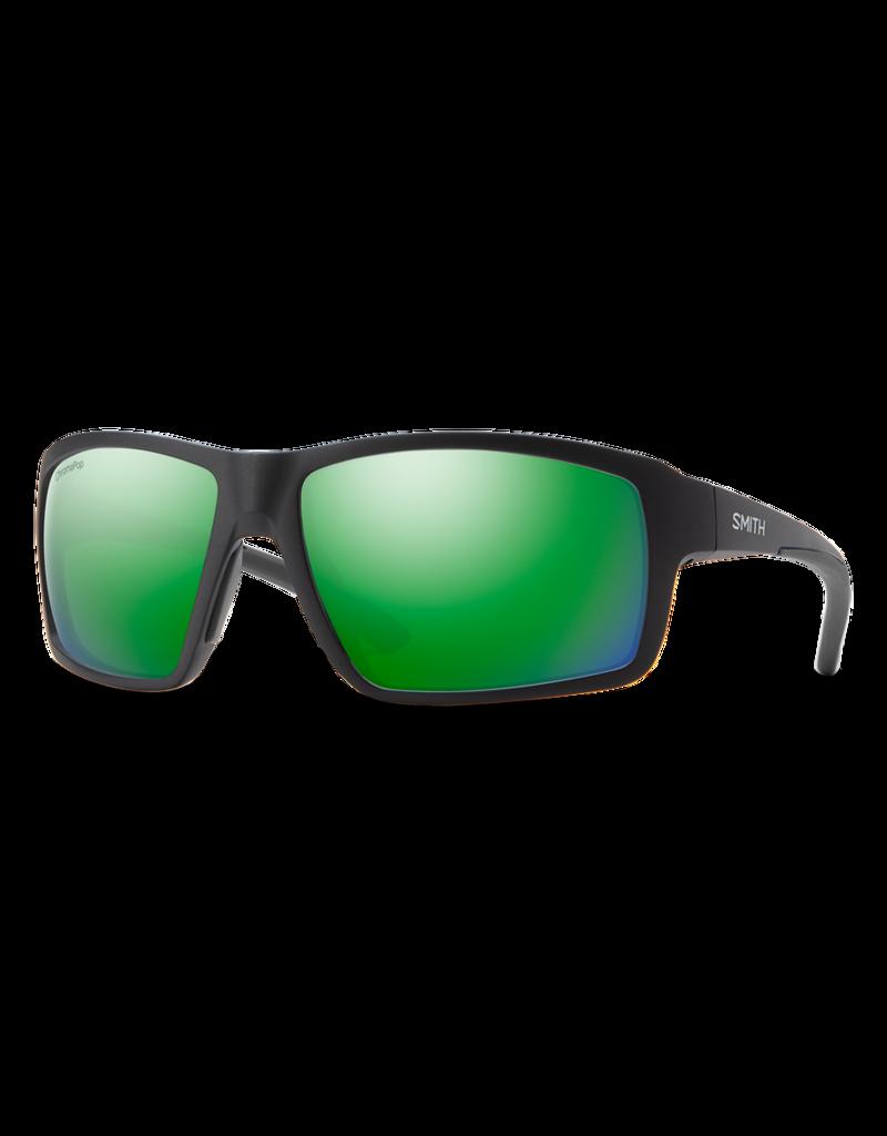 Smith Optics Hookshot Matte Black CP Polarized Green Mirror
