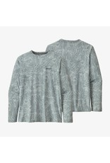 Patagonia Mens L/S Cap Cool Daily Fish Graphic Shirt Rocksand: Stainless