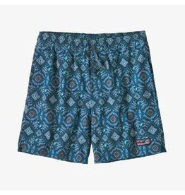 Patagonia Mens Stretch Wavefarer Volley Shorts - 16 in. Honeycomb Small: Seaport
