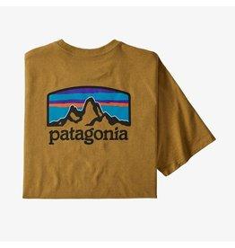 Patagonia Mens Fitz Roy Horizons Responsibili-Tee Buckwheat Gold