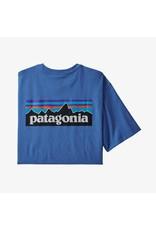 Patagonia Mens P-6 Logo Pocket Responsibili-Tee Bayou Blue