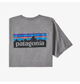 Patagonia Mens P-6 Logo Pocket Responsibili-Tee Gravel Heather