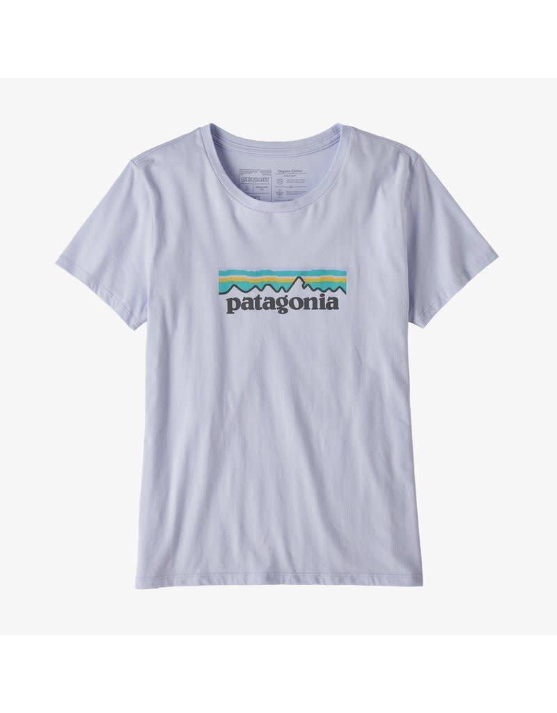 Patagonia Womens Pastel P-6 Logo Organic Crew T-Shirt Beluga