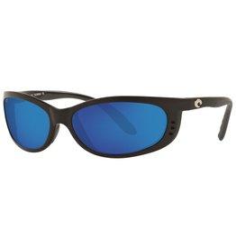 Costa Del Mar Fathom Matte Black  Blue Mirror 580P