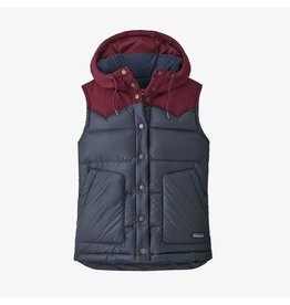 Patagonia Women's Bivy Hooded Vest Smolder Blue w/ Chicory Red