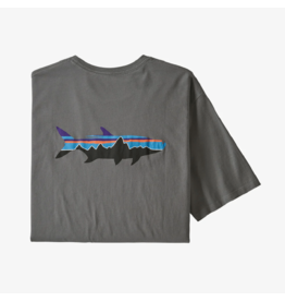 Patagonia Men's Fitz Roy Fish Organic T-Shirt Noble Grey w/Fitz Roy Tarpon