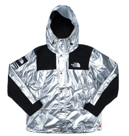 SUPREME Supreme The North Face Metallic Mountain Parka Silver WORN MED