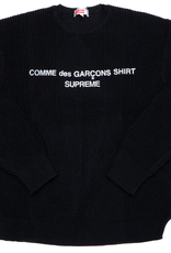 SUPREME Comme des Garcons SHIRT Sweater Black XL WORN