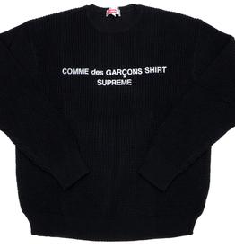 SUPREME Comme des Garcons SHIRT Sweater Black XL WORN