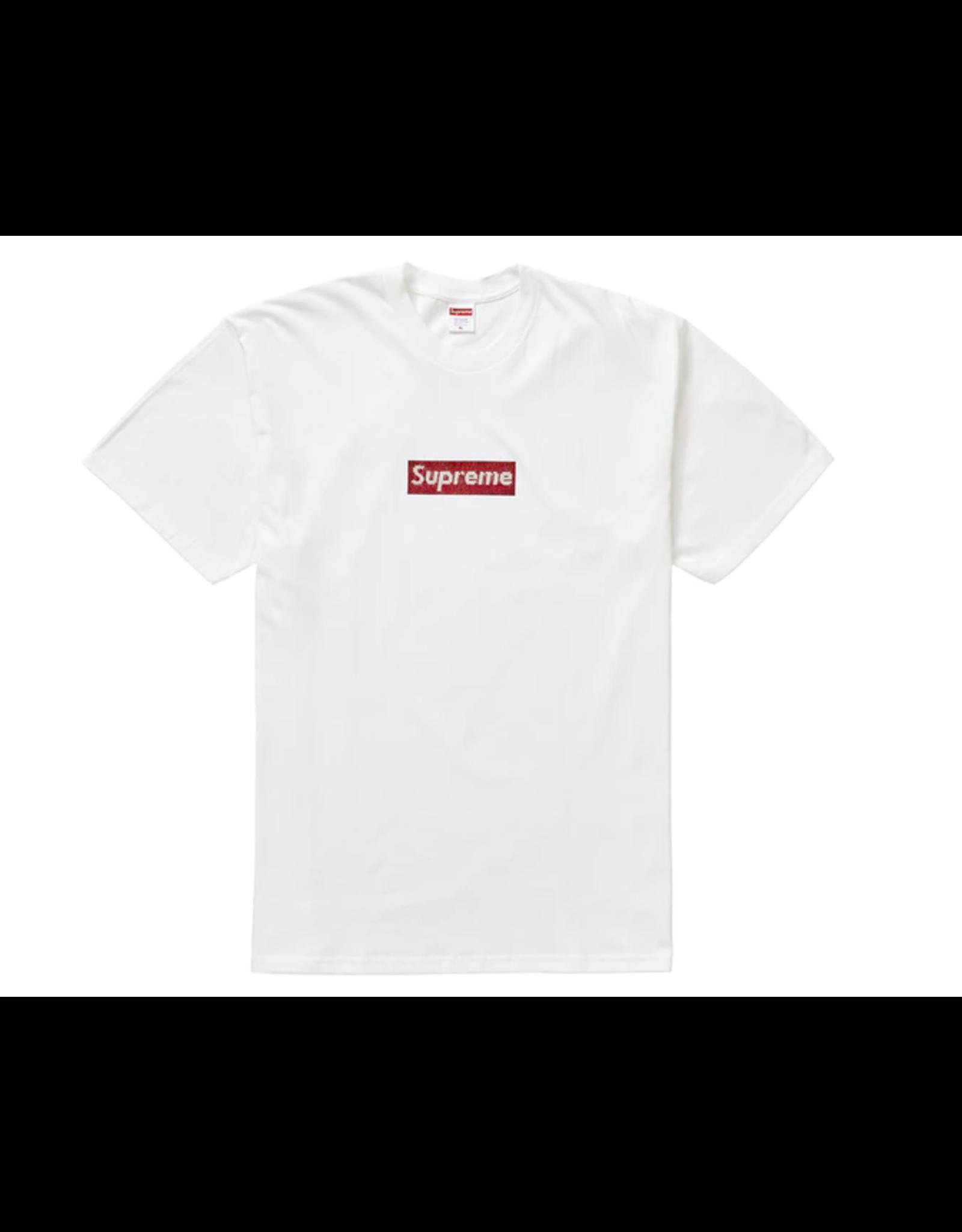 SUPREME Supreme Swarovski Box Logo Tee White MED