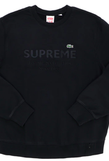 SUPREME LACOSTE Crewneck Black WORN XL