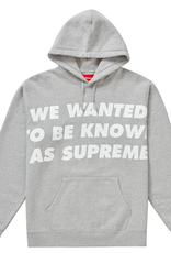 SUPREME Supreme Known As Hooded Sweatshirt Heather Grey SM