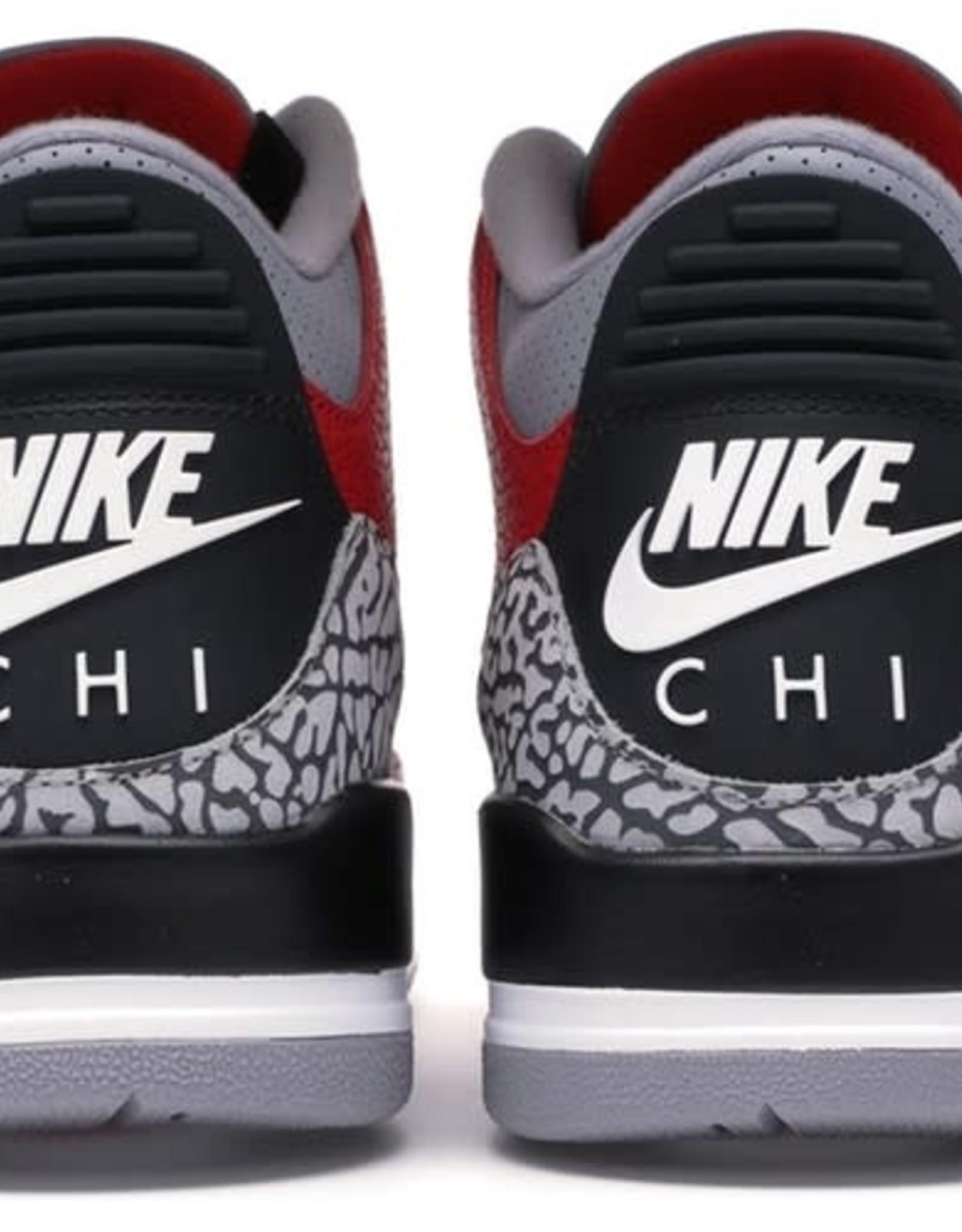 JORDAN DOUSED-Jordan 3 Retro Fire Red Cement (Nike Chi)