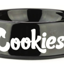 COOKIES Original Mint Powder Coated Stainless Steel Dog Bowl