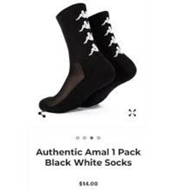 KAPPA AUTHENTIC AMAL 1 PACK BLACK-WHITE